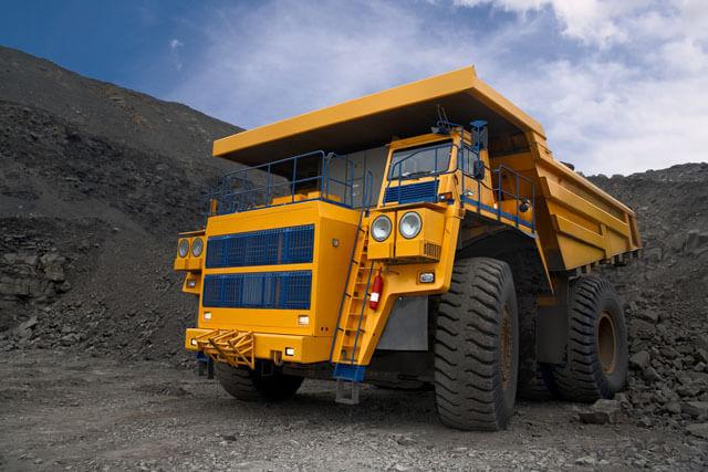 a mining truck