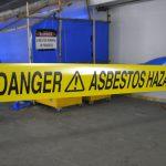asbestos danger sign