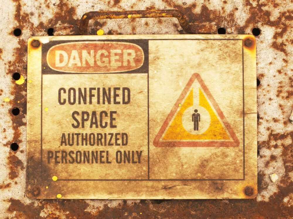 Are you aware of the risks of working in a confined space?