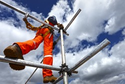 A high-risk licence is required for anyone working on scaffolding.